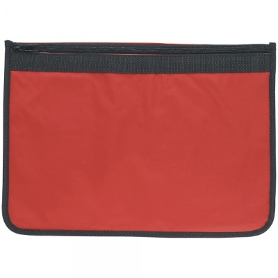 Image of Nylon Document Wallet - Red / Black Edging