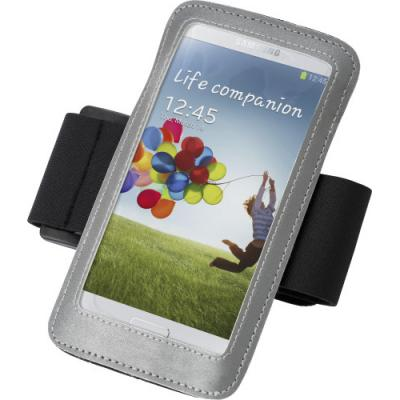 Image of Phone armband with reflective trim