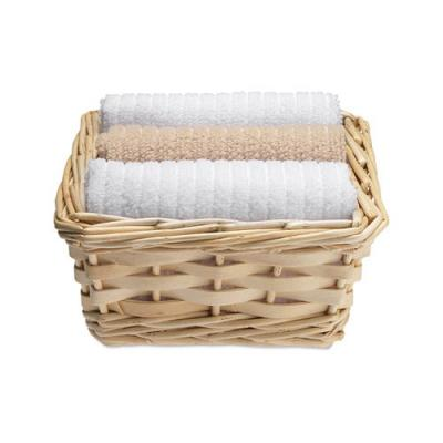 Image of Set Of 3 Towels In Basket