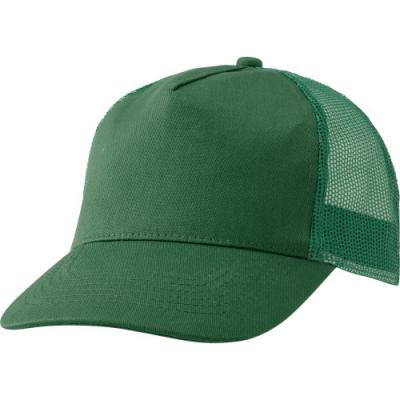 Image of Cotton twill and plastic five panel cap