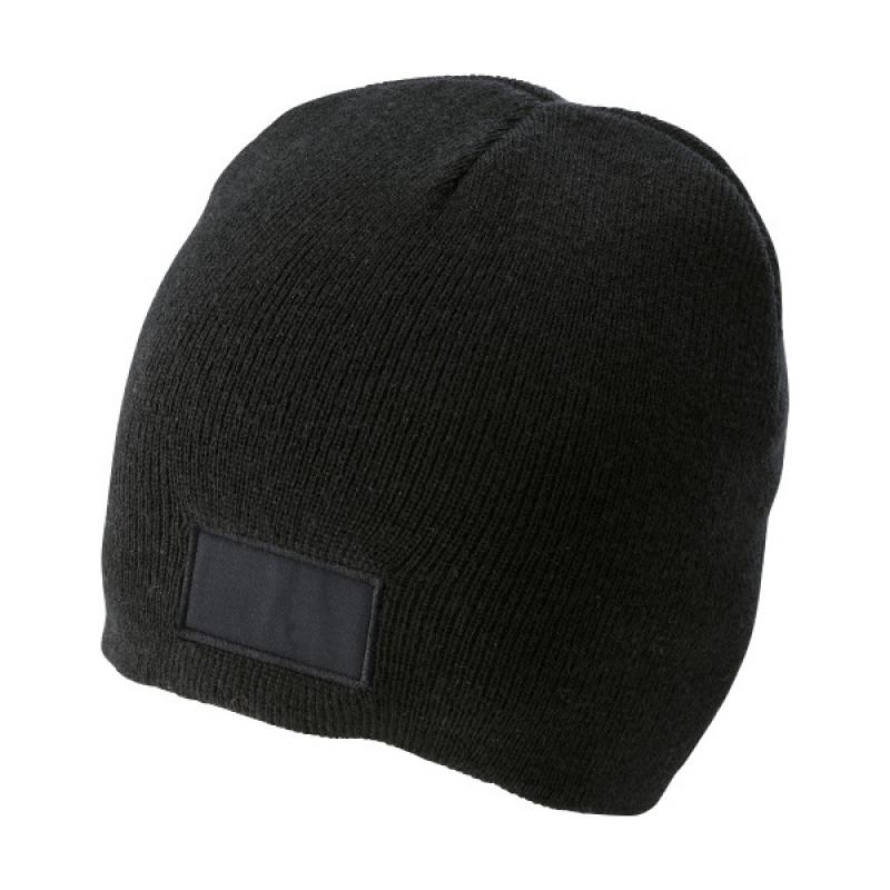 Image of Acrylic beanie with a matching colour label on the front for printing purposes