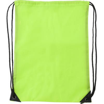 Image of Polyester (210D) drawstring backpack with reinforced corners and nylon drawstrings