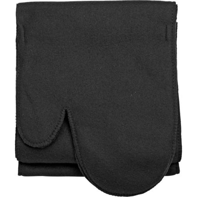 Image of Polyester (200 gr/m2) polar fleece scarf with a glove at each end