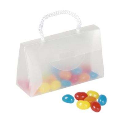 Image of Sweets In A Perspex Bag With Card Slot