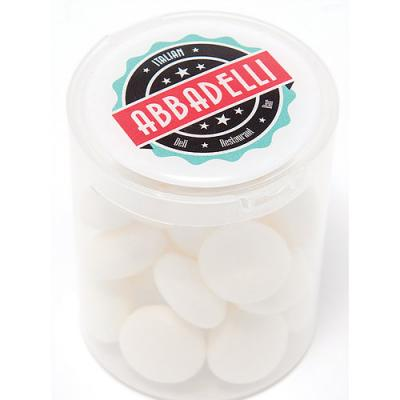 Image of Soft Mints Loose In A Clear Tub
