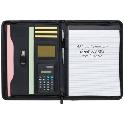Image of Dartford A4 Zipped Folder with Calculator