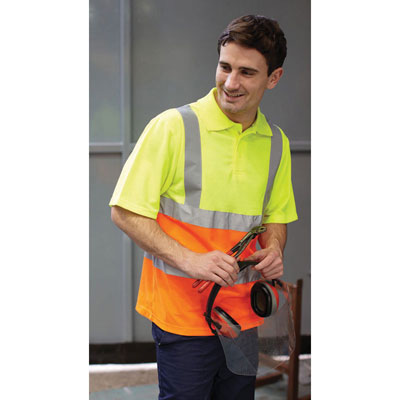 Image of Yoko Hi Vis Short Sleeve Polo shirt
