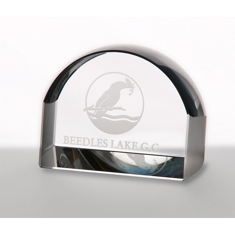 Image of 8cm Optical Crystal Magnifying Paperweight