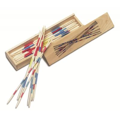 Image of Mikado game in wooden box