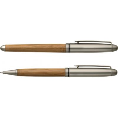 Image of Bamboo ballpen and rollerpen