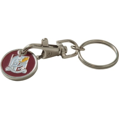 Image of Trolley Coin Keyring (Stamped Iron Soft Enamel Infill)