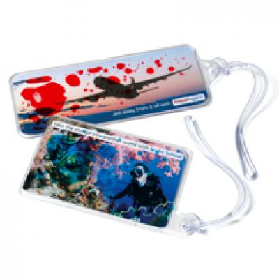 Image of Aqua Luggage Tag