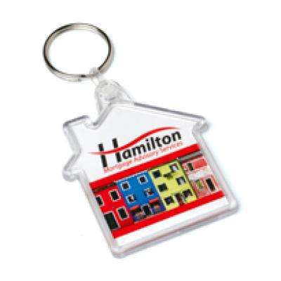 Image of Acrylic House Keyfob 53x62mm