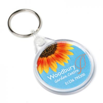 Image of Acrylic Round Keyfob 43x52mm