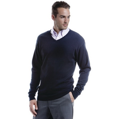 Image of Kustom Kit Men's Arundel Long Sleeve V-Neck