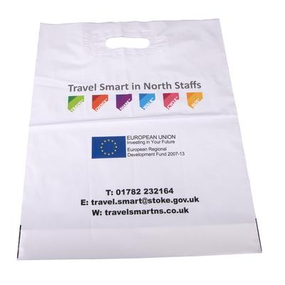 Image of Polythene Patch Handle Carrier Bags