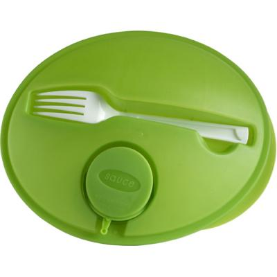Image of Oval shaped salad box.