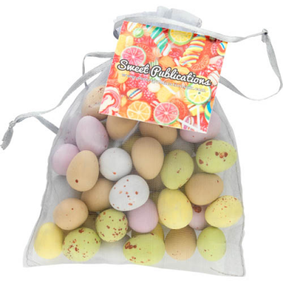 Image of Large Organza Bag with Retro Sweets