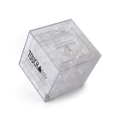 Image of Maze Plastic Cube Shaped Money Box