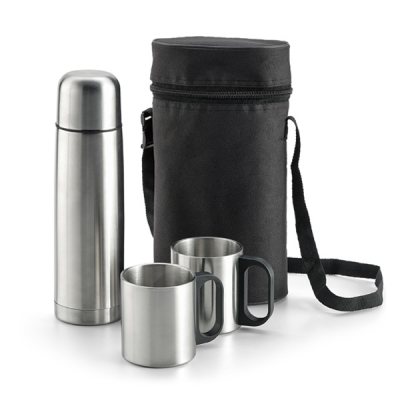 Image of Thermal Bottle Set With 2 Mugs