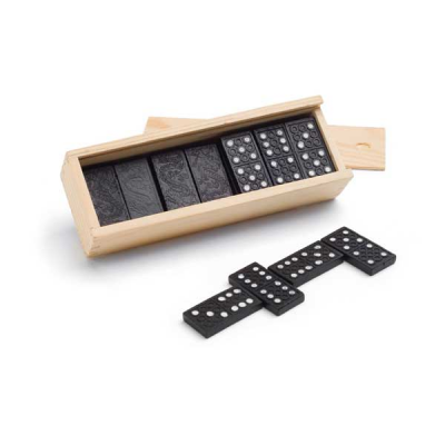 Image of Dominoes Game In Wooden Box