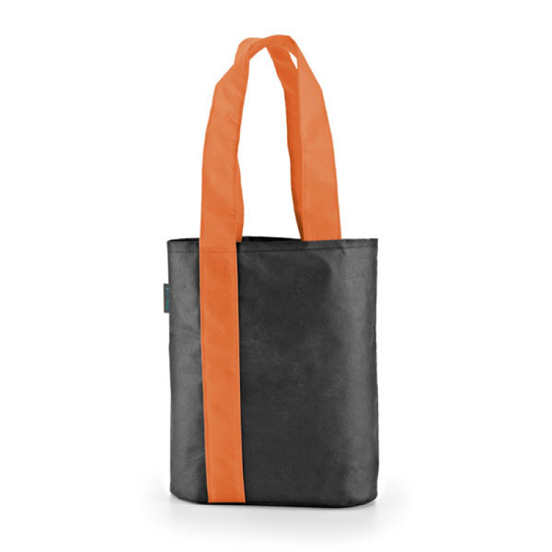 Image of Black Shopper Bag With Coloured Handles