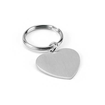 Image of Heart Shaped Metal Keyring