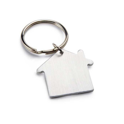 Image of House Shaped Metal Keyring
