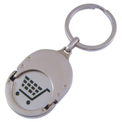 Image of Oval Trolley Coin Keyrings