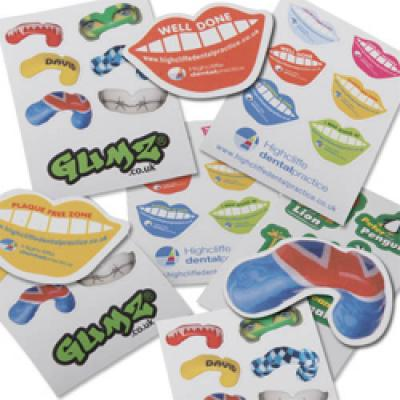 Image of Sheet Of Random Shaped Stickers A7