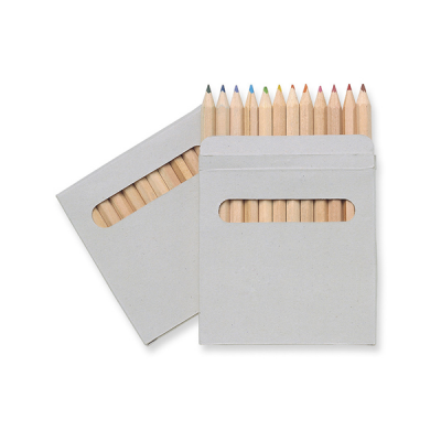 Image of 12 coloured pencils set