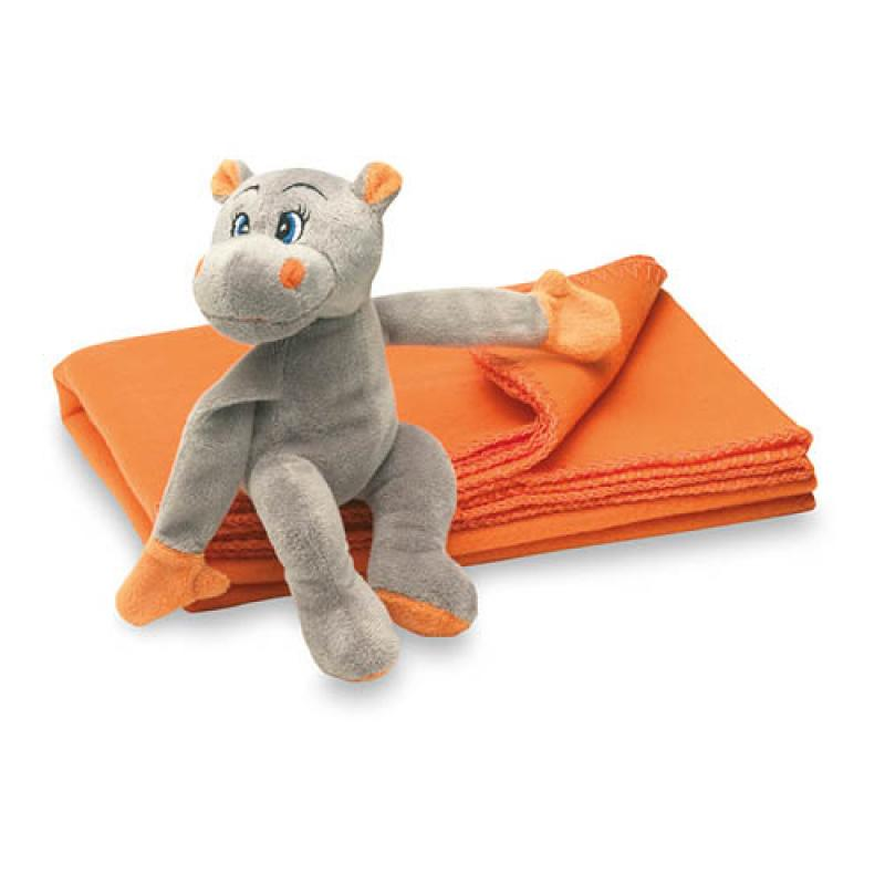 Image of Fleece blanket with hippo