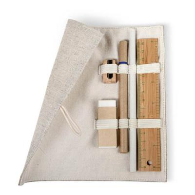 Image of Stationary set in cotton pouch