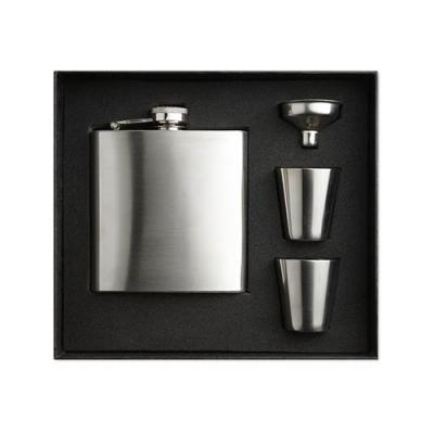 Image of Slim hip flask w 2 cups set