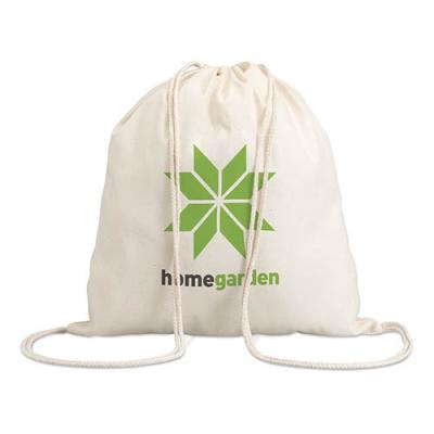Image of Cotton 100 gsm drawstring bag