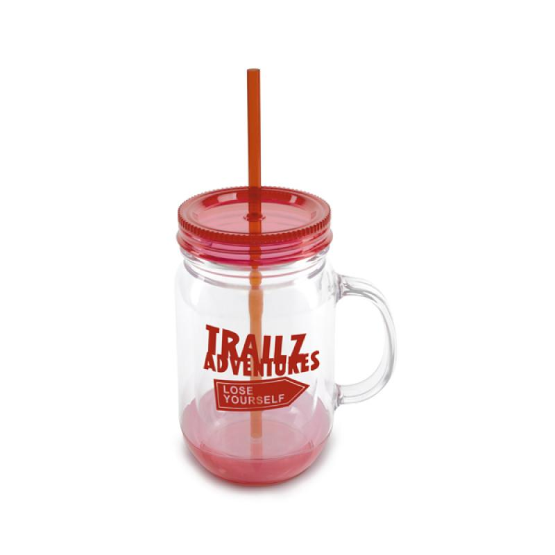 Image of Double Walled Plastic Jar With Handle
