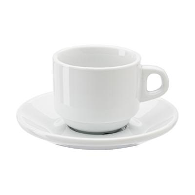 Image of Stackable porcelain cup and saucer (90ml)