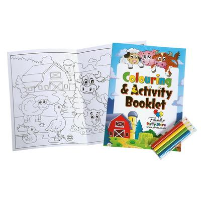 Image of Colouring Book with 4 Pack of Pencils