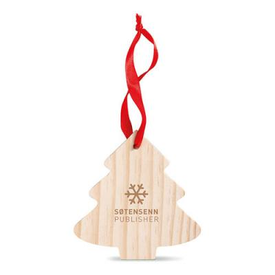 Image of Pine Tree Shaped Wooden Hanger