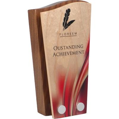 Image of Real Wood Block Award with Wooden Face Plate