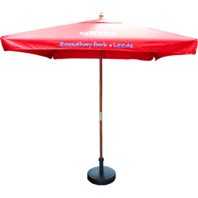 Image of 2m Square Wooden Parasol