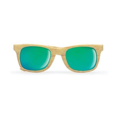 Image of Wooden look sunglasses