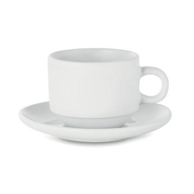 Image of Sublimation cup and saucer