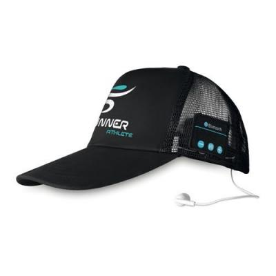 Image of Bluetooth cap with earphones