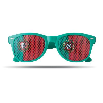Image of Sunglasses with flag lenses