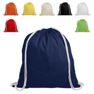 Image of Cotton Backpack Drawstring