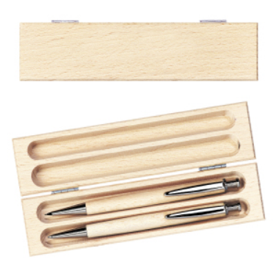 Image of Wooden Writing Set