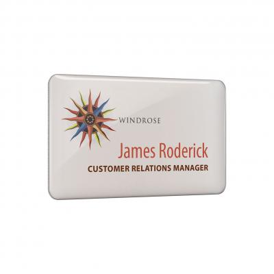Image of Digitally Printed Metal Name Badges