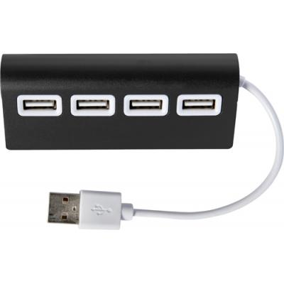 Image of Aluminium USB hub with 4 ports.