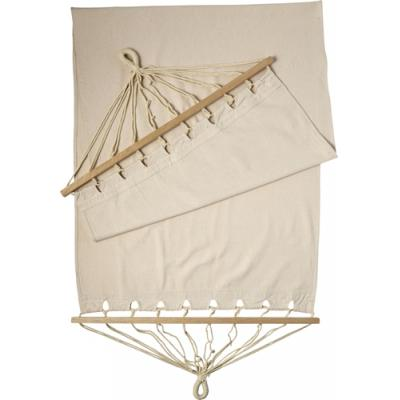 Image of Polyster canvas hammock with wooden rims